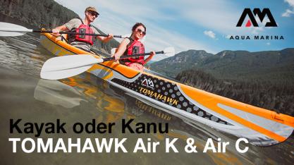 AQUA MARINA Kayak oder Kanu - das richtige Boot für jeden Paddeltyp