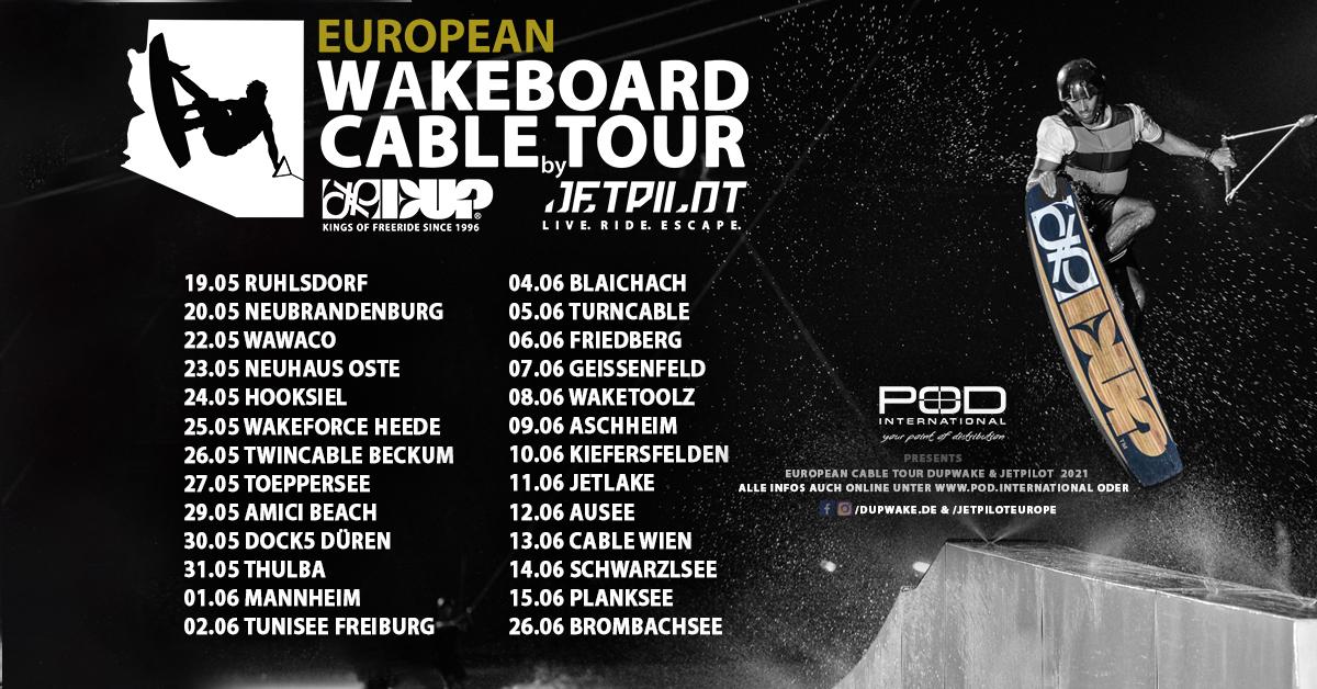 European Wakeboard Cable Tour 2021 - Deutschland & Österreich