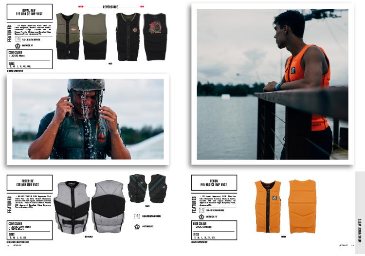 Wakeboard Jetpilot freeride orange vest